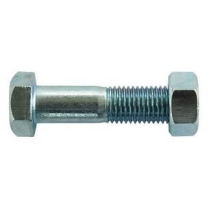 Half threaded hexagonal bolts - Zinc-plated