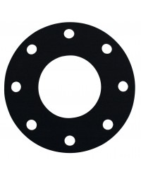 Drilled rubber flanged gaskets