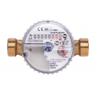 Divisional water meter - Hot water - Pre-equipped for telelifting