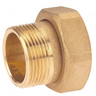 2 pieces fitting - Male / Swivel nut - Short model