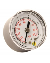 Pressure gauge - ABS casing - Class 1,6 - Conical brass Axial fitting 1/8G - Ø 40