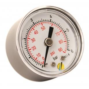 Manomètre sec - Boitier ABS - Classe 1.6 - Raccord axial 1/8G conique laiton - Ø 40