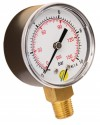 Pressure gauge - ABS casing - Class 1.6 - Conical brass vertical fitting 1/4G - Ø 50