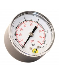 Pressure gauge - ABS casing - Class 1.6 - Conical brass axial fitting 1/4G - Ø 50