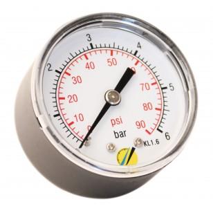 Manomètre sec - Boitier ABS - Classe 1.6 - Raccord axial 1/4G conique laiton - Ø 50