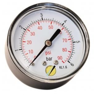Manomètre sec - Boitier ABS - Classe 1.6 - Raccord axial 1/4G conique laiton - Ø 63