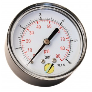Pressure gauge - ABS casing - Class 1.6 - Conical Brass axial fitting 1/4G - Ø 63