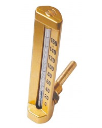 Square industrial thermometer