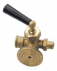 Valve with flange for pressure gauge - M/F