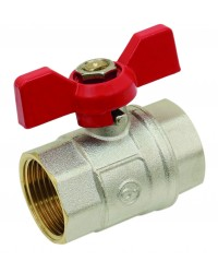 Brass ball valve - F / F - ''Etoile'' series- Standard bore - Butterfly red handle
