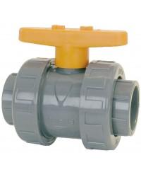 Vanne à sphère en PVC - Série industrie - Joint de sphère EPDM - A coller