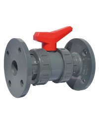 """PVC ball valve - """"Industrial series"""" - EPDM ball seal - With PN 10/16 flanges"""