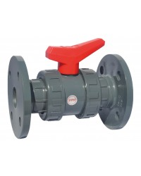 """PVC ball valve - """"Industrial series"""" - FPM ball seal - With PN 10/16 flanges"""