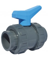 """PVC ball valve - """"Water distribution and swimming pool series"""" - To bond"""