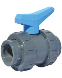 """PVC ball valve - """"Water distribution and swimming pool series"""" - Tapped"""