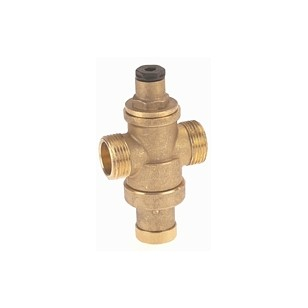 "Pressure reducing valve - Brass hot forged piston type - ""Mignon series"" - Male / Male - Raw brass"