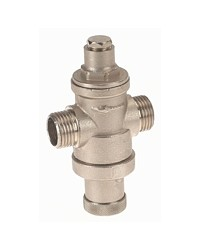 "Pressure reducing valve - Brass hot forged piston type - ""Mignon series"" - Male / Male - Nickeled brass"