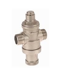 Réducteur de pression à piston en laiton matricé - Série mignon - Mâle / Mâle - Laiton nickelé