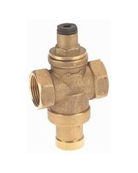Réducteur de pression à piston en laiton matricé - Série mignon - Femelle / Femelle - Laiton brut