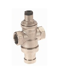 Réducteur de pression à piston en laiton matricé - Série mignon - Femelle / Femelle - Laiton nickelé