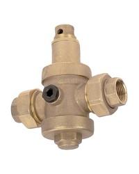 Réducteur de pression à piston en laiton matricé - 2 raccords union femelle - Série industrie