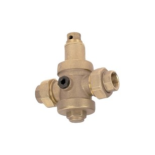 "Pressure reducing valve - Brass hot forged piston type - 2 union female fittings - ""Industrial series"""