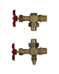 Brass water gauge with needle valve