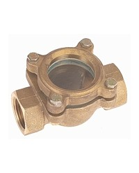 Brass sight flow indicator with fixed fins - F / F