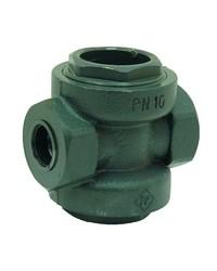 Cast iron sight flow indicator - F / F - PMS 16 bar