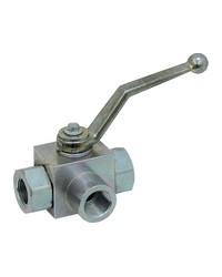 3 ways in ''L'' ball valve - Female