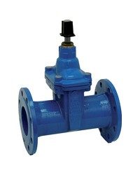 """Flanged gate valve rubber wedge- NP 16 - """"Long series"""" F5 - Manoeuvre by squares 30 x 30 mm - FSIH"""