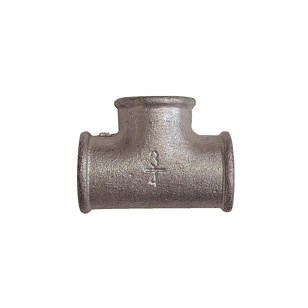 90° Equal Tee- F/F/F - Galvanized Cast Iron