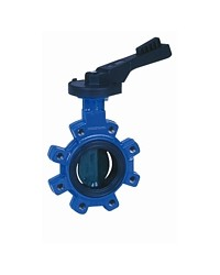 Butterfly valve - Cast iron body FGL - Notched handle - Butterfly cast iron GS - Lug type - EPDM sleeve