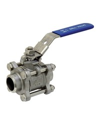 Stainless steel ball valve - 3 pieces - Full bore- Butt Welding