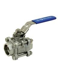 Stainless steel ball valve - 3 pieces - Full bore - Socket Welding