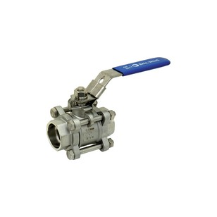 Stainless steel ball valve - 3 pieces - Full bore - Socket Welding