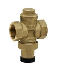 Réducteur de pression à piston en laiton matricé - Femelle / Femelle - Laiton brut - Sans prise manomètre