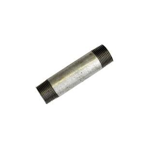 Galvanized steel pipe nipple - Length 120 mm