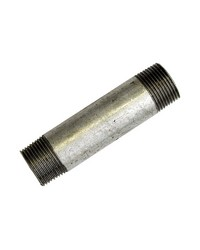 Galvanised steel pipe nipples - Length 150 mm