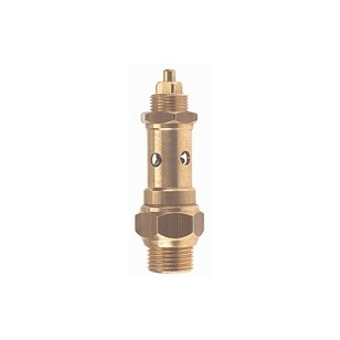 Controlable brass safety relief valve - PTFE valve