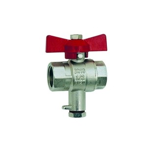 Ball valve - F/ F - With M10x1 connexion for temperature sensor
