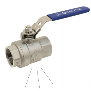 Stainless steel pressure relief ball valve - F/F - For compressed air