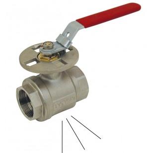 Vanne à sphère laiton F / F - Série cadenassable à décompression - Poignée acier