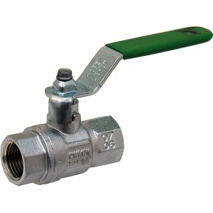 "Brass ball valve - F / F - ""Green series"" - Flat steel handle"