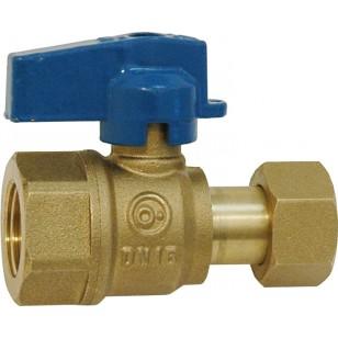 Ball valve for manifold - Female / Swivel nut - Blue handle