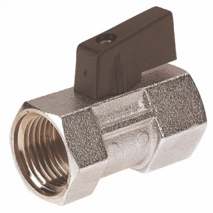 Brass ball valve F / F - Mini type - butterfly handle