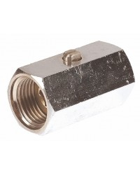 "Brass ball valve - F / F - ""Mini series"" - Screwdriven manoeuvre"