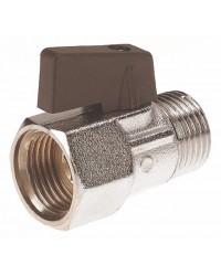 "Brass ball valve - M / F - ""Mini series"" - Butterfly handle"