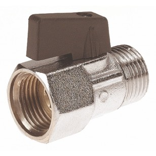"Brass ball valve - M / F - ""Mini series"" - Butterfly handle"