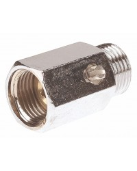 "Brass ball valve - M / F - ""Mini series"" - Screwdriven manoeuvre"